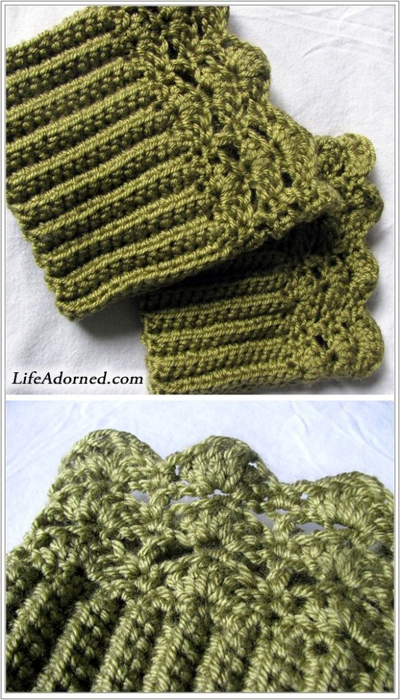 FREE boot cuffs crochet pattern: Belmont Boot Toppers | Crocheting ...