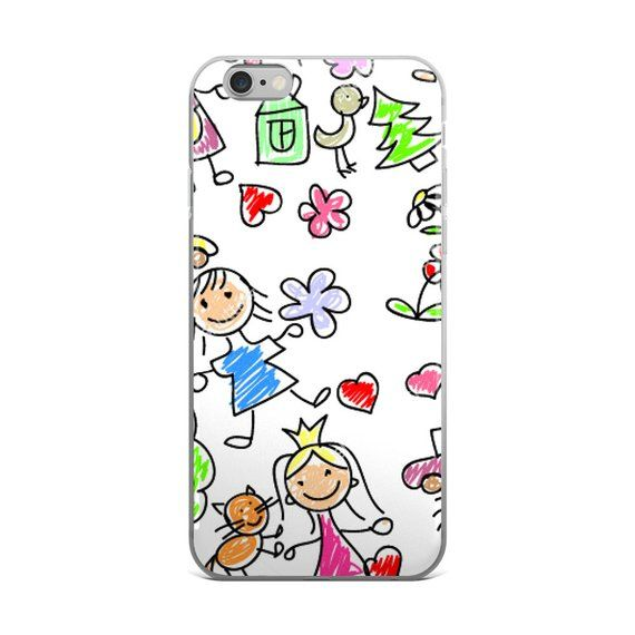 Custom Iphone Case With Your Children S Drawing Custom Iphone Case
