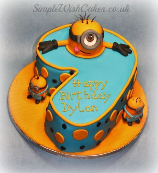 Number 9 Minions With Images Cake 9th Birthday Cake Yummy Cakes