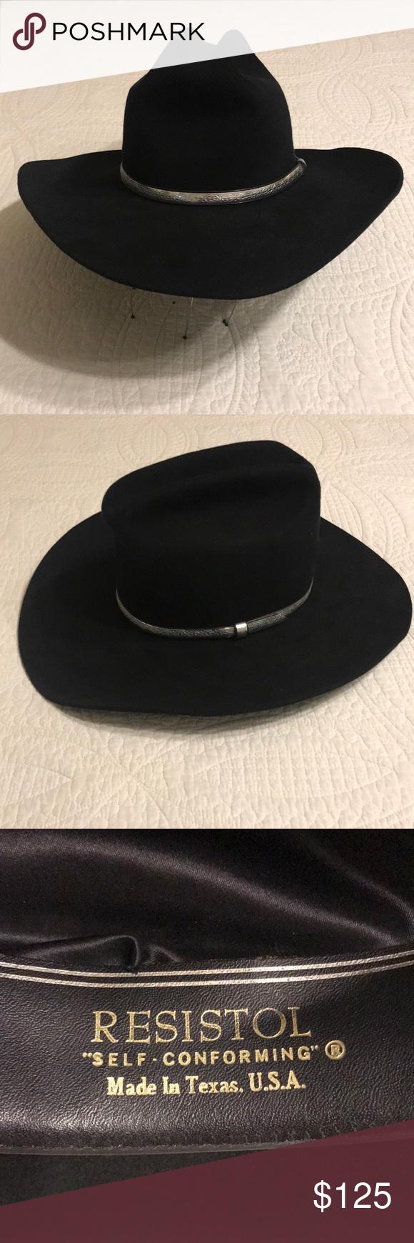 """29f9bca17a60a Resistol """"SIGNED"""" black beaver cowboy hat 6-7 8 Vintage 4xxxx beaver ..."""