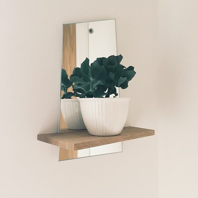 """""""Love my little mirrored shelf from Etsy. """""""