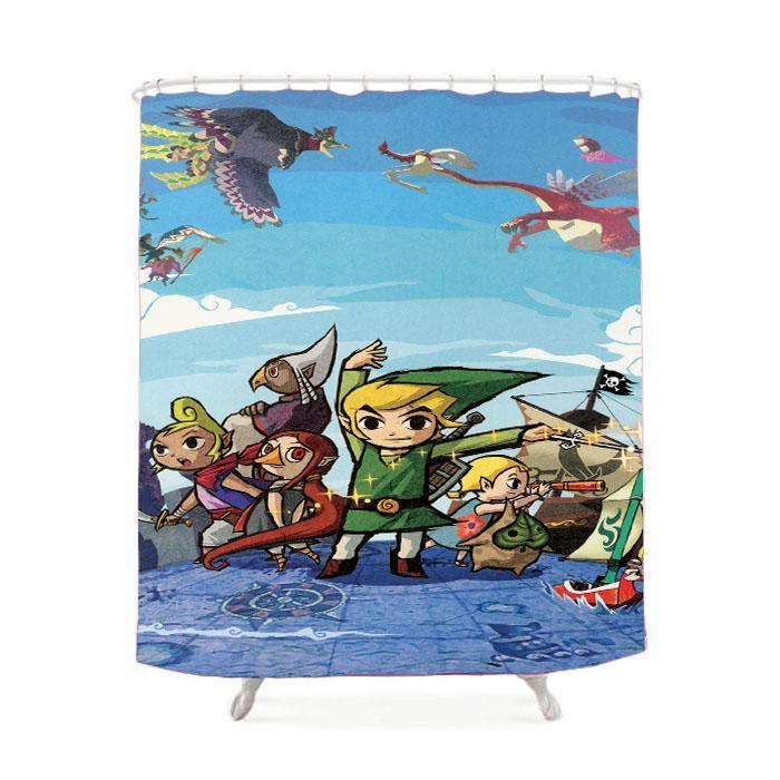 The Legend Of Zelda Wind Waker Shower Curtain Wind Waker Legend