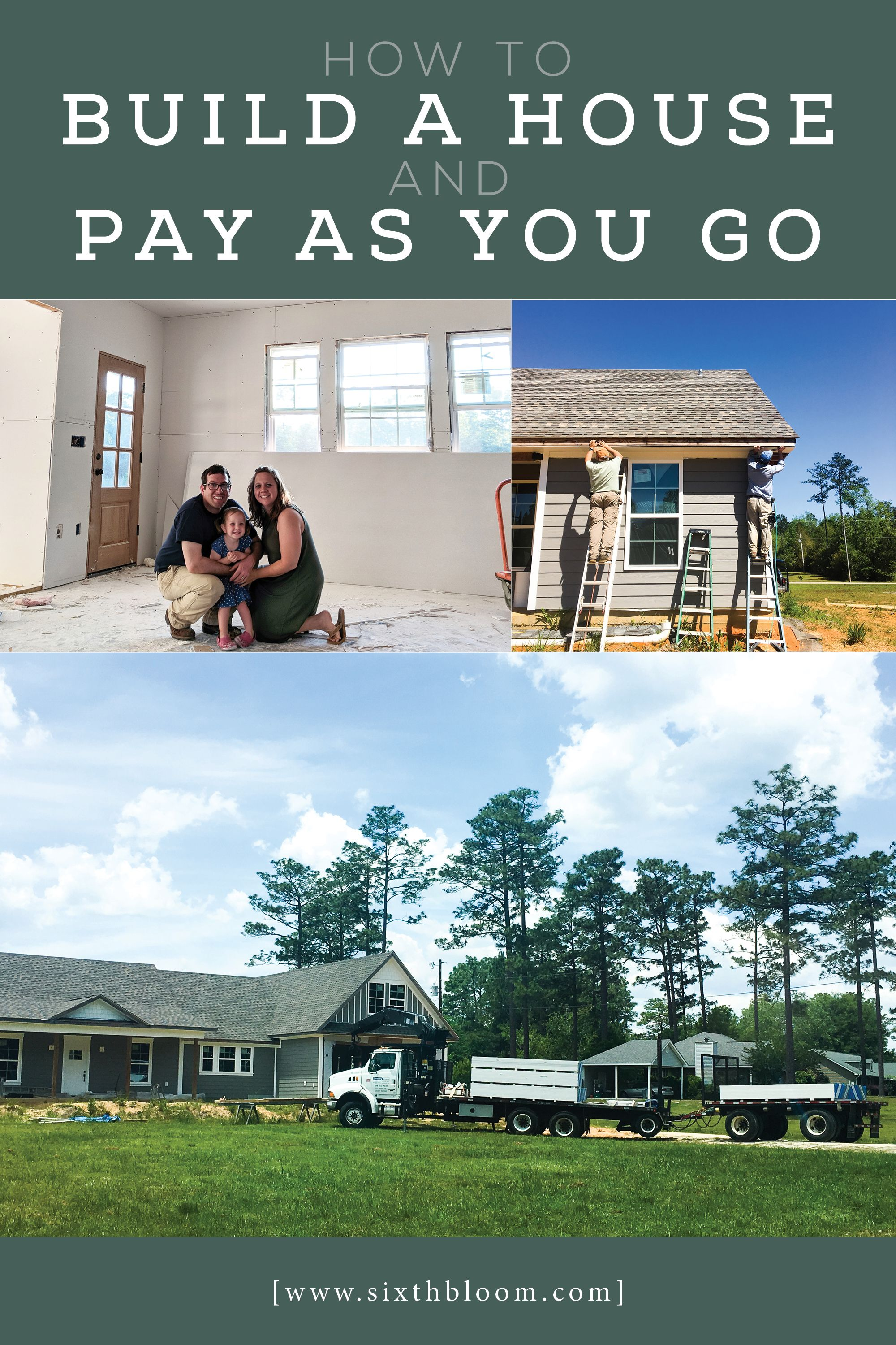 How to Build a House and Pay as You Go #buildingahouse