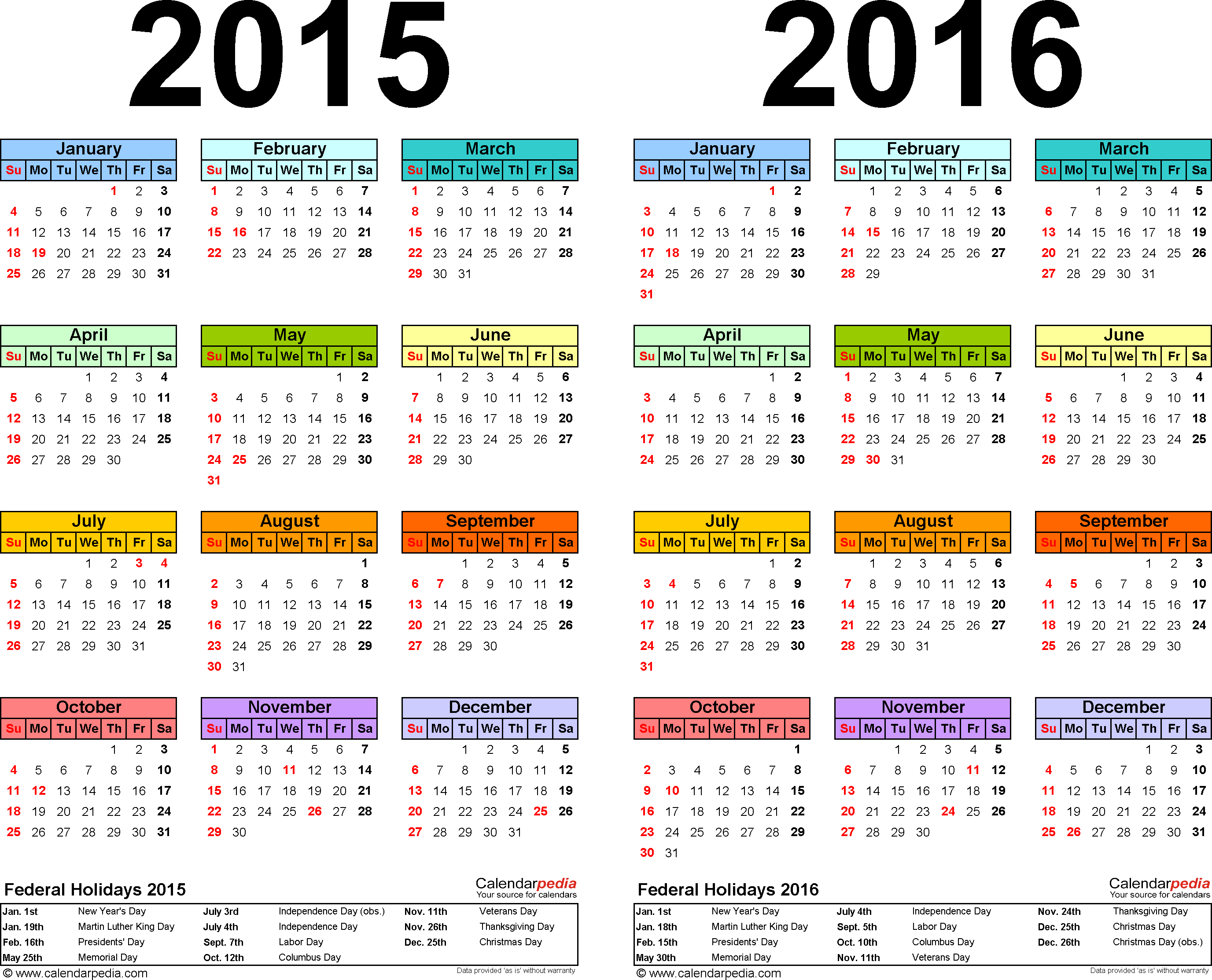 2015 2016 Calendar Free Printable Two Year Pdf Calendars Calendar Printables Calendar Template Printable Calendar 2016