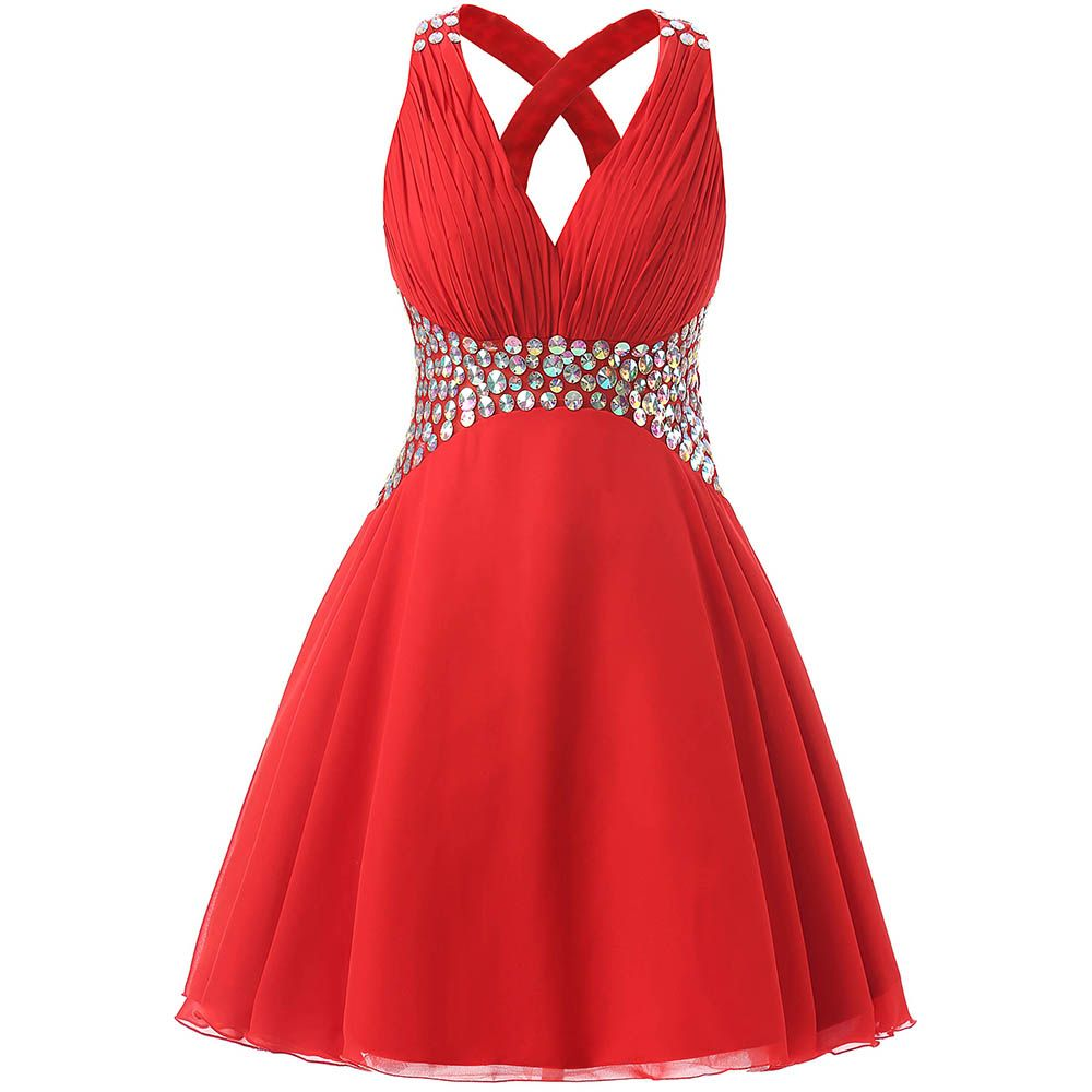 Real picture homecoming dresses short red dresses for graduation