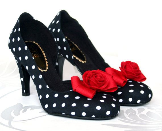 Rockabilly Rose Shoes ~ http://www.etsy.com/people/tuppencehapenny?ref=ls_profile