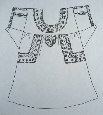 Mexican blouse embroidery placement ideas embroidery for Dress shirt monogram placement