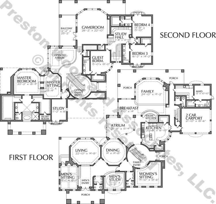 Two Story House Plan C8023 Two Story House Plans Story House House Plans
