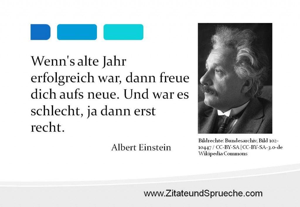tolles Zitat von Albert Einstein zum Jahreswechsel ...