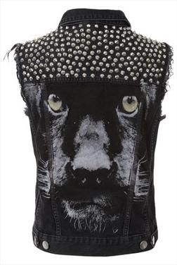 Black Panther Studded Denim Vest That S Badass My Kind Of