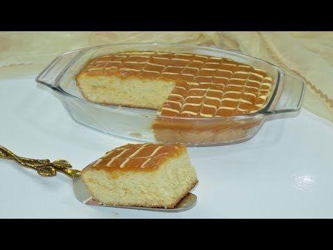 كيكة اسفنجية سهلة بدون زيت او زبدة بالكاراميل رااااائعة و تذوب في الفم Youtube Food Breakfast Bread