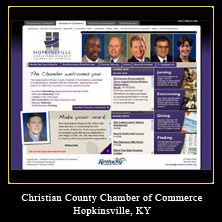 My Web Design Clients: Christian County Chamber of Commerce. Hopkinsville, Kentucky.
