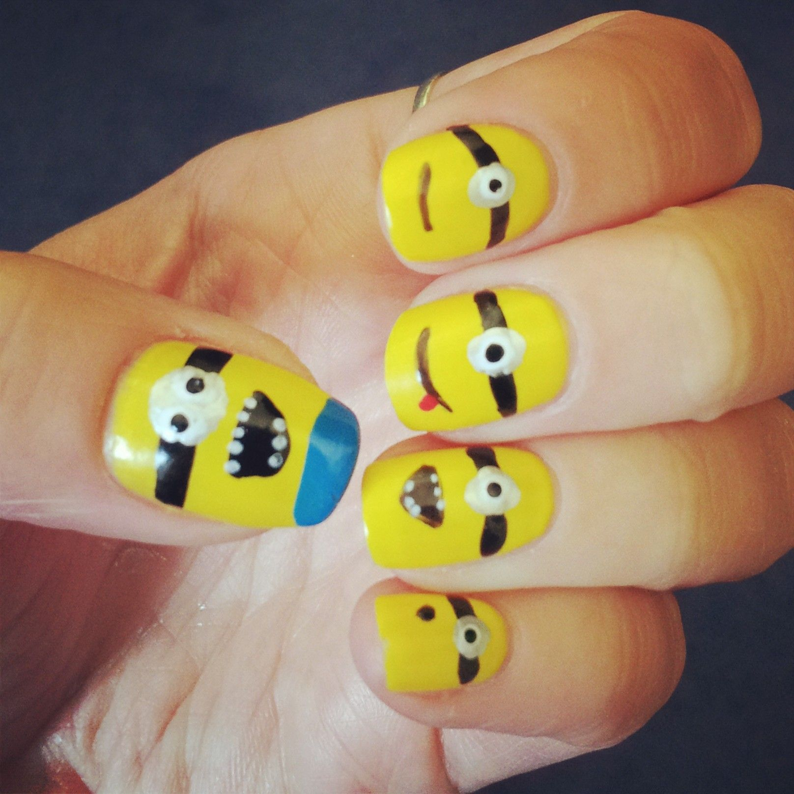 despicable me - minions nail art | nails, nails, nails | Pinterest ...