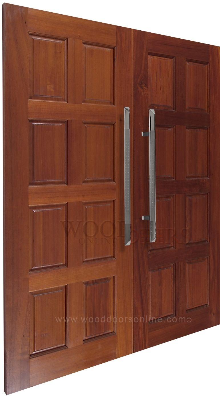 The Madison 31 1 2 Front Door Pull Handle Mounted On Double Doors Is Stunning It S Triangular Profile Is Quite Dif Front Door Handles Door Handles Front Door