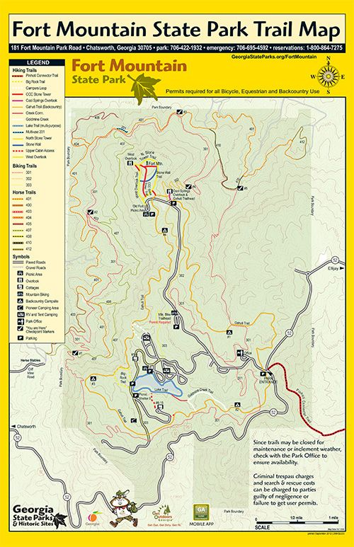 Trails at Fort Mountain Georgia State Parks