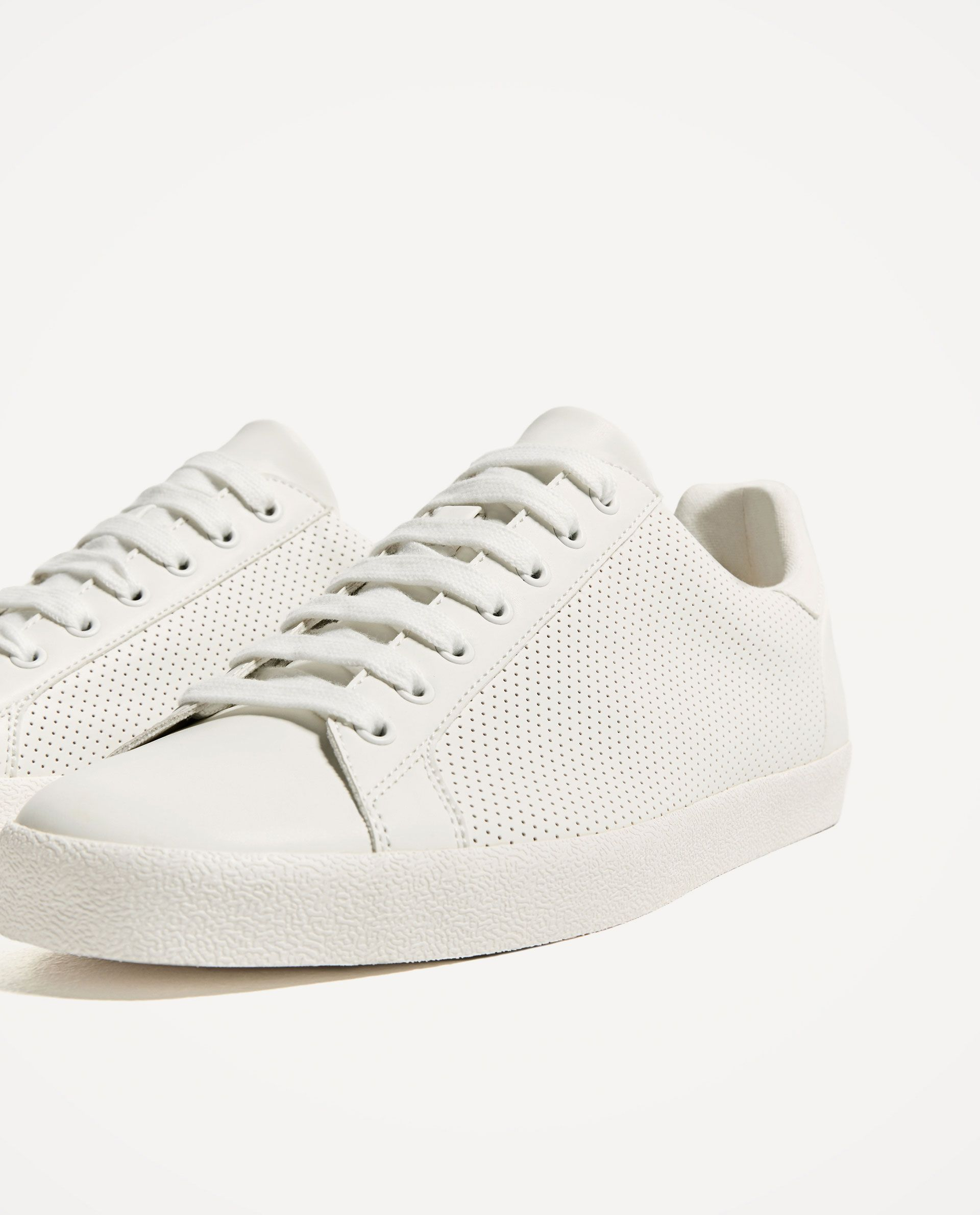 best sneakers 052c5 ff71d ZARA - MAN - MICRO-PERFORATED SNEAKERS