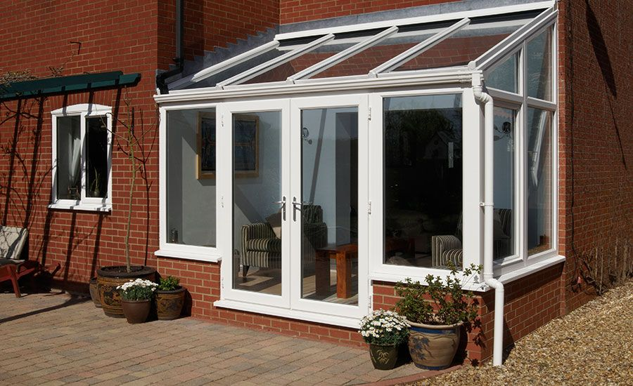 Upvc lean to conservatories at unbeatable prices anglian for Upvc garden room