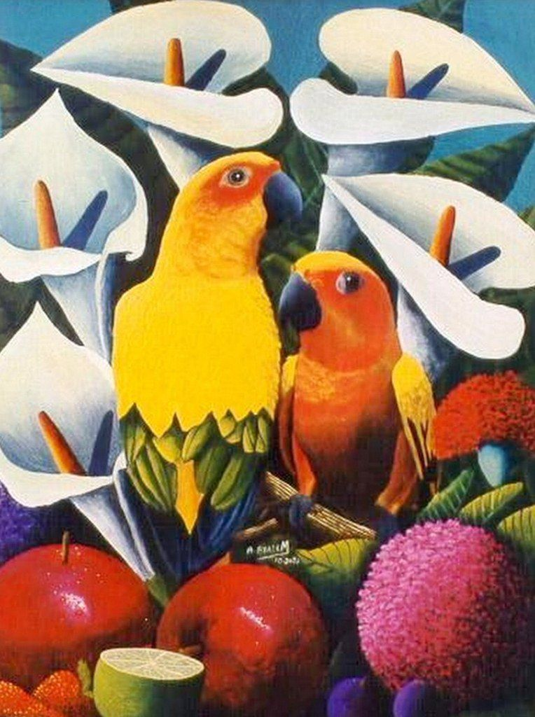CUADROS DE AVES EXTICAS AL OLEO Pinturas de Aves Exticas Cuadros
