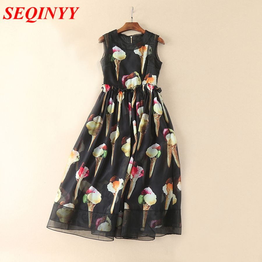 Click to buy ucuc fashion print long dress spring summer incity