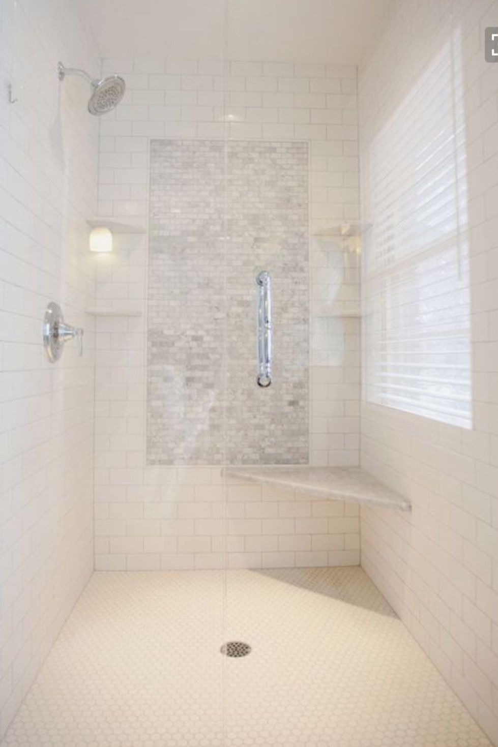 Master bath accent tile layout | Naples Selections finalized ...