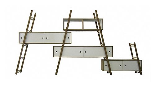 Ladders. Could add a desk surface as well.