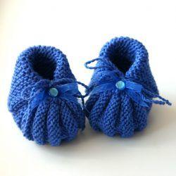 Пинетки для новорожденных спицами и крючком: схемы и ...