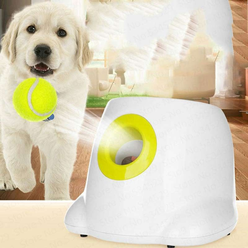 Cheapest Dog Pet Toys Tennis Launcher Automatic Throwing Machine Pet Ball Throw Device 3 6 9m Section Emission With 3 Balls Mosnicnac In 2020 Dog Toys Smart Dog Toys Pet Ball