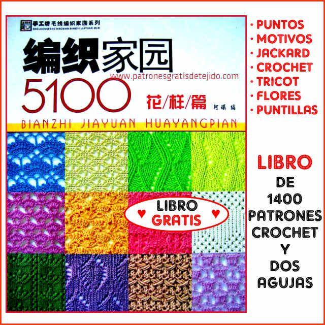 Libro con Patrones de Tejido Gratis Para Descargar - Crochet y Dos ...