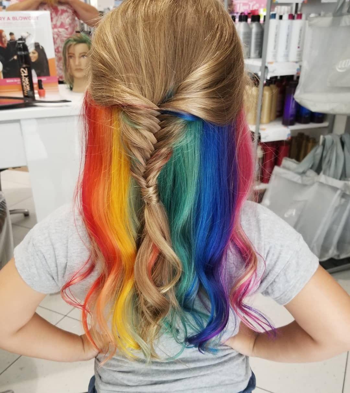 Rainbow Hair thesalonatultachambersburgpa redken
