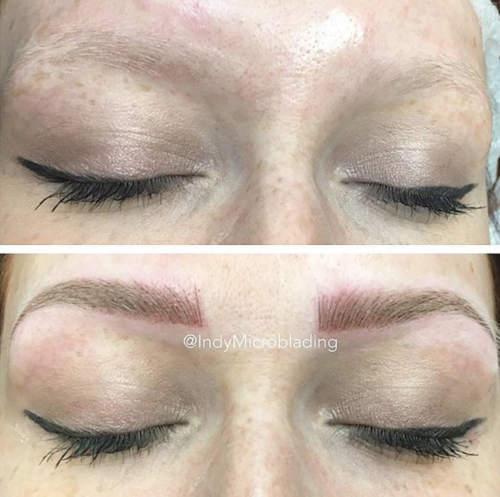 Photos (before / after) Indy Microblading , Indy