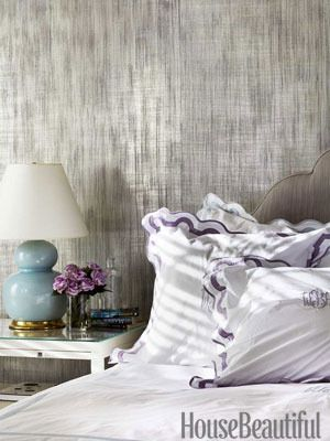 Color Direction Color + Metallics Bedroom wallpaper