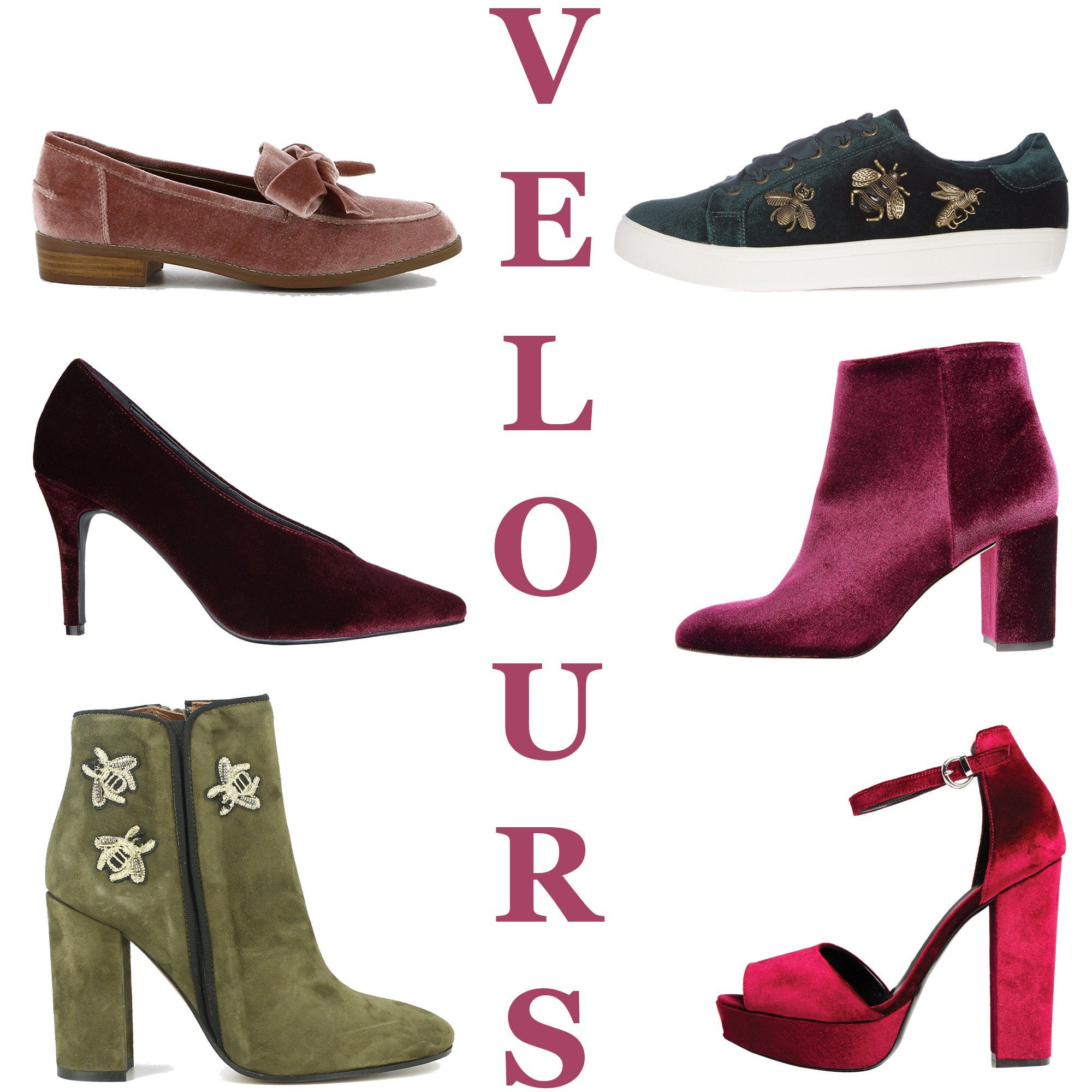 Chaussures automne hiver 2017-2018 : le velours