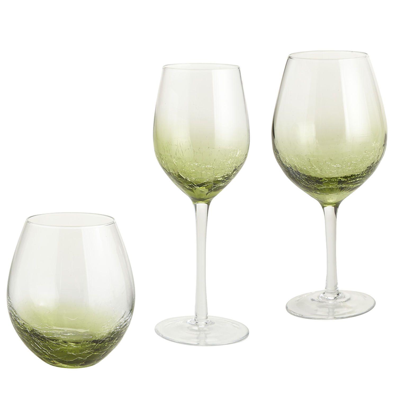Crackle Stemware - Olive | Pier 1 Imports | Green stemware ...