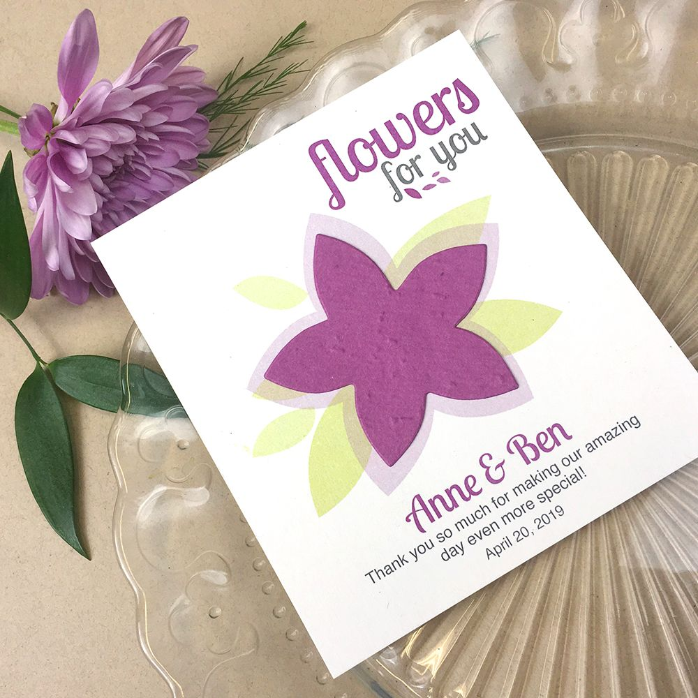 Modern Flower Plantable Seed Paper Favor | Seed paper, Favors and Flower
