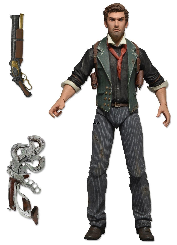 """7/"""" Booker DeWitt Action Figure BioShock Infinite NECA"""