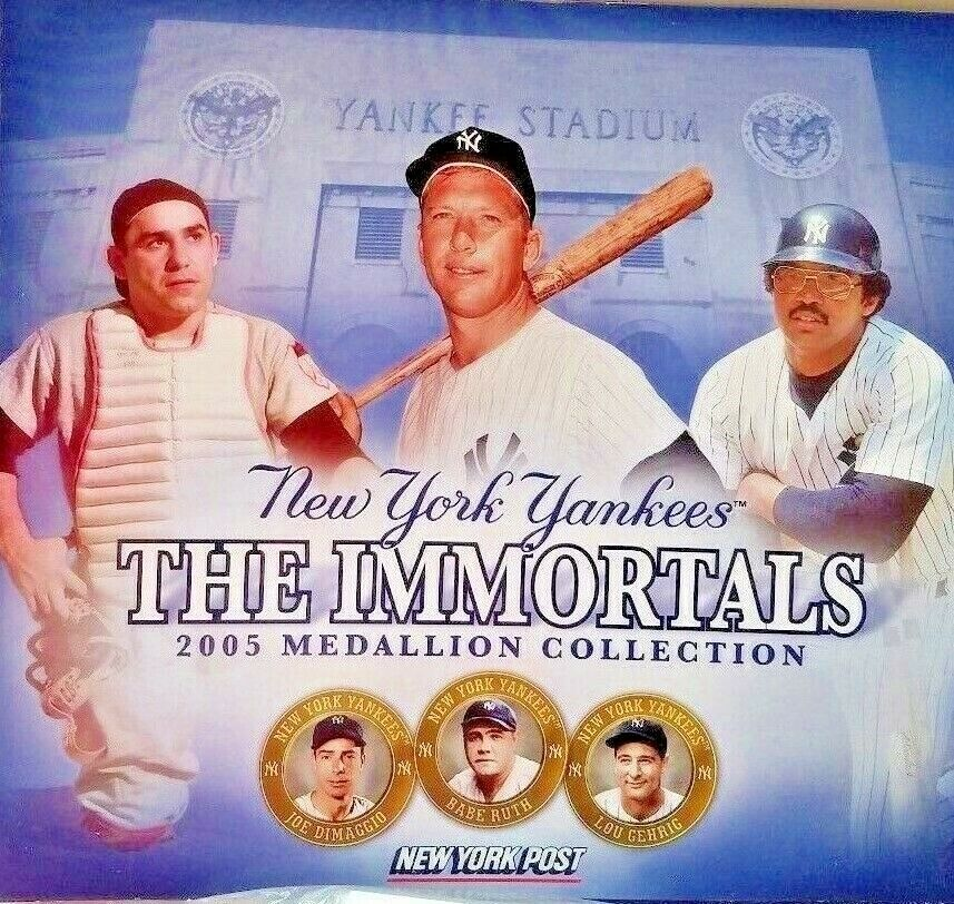 Yankees Medallion 3 Fold 2005 The Immortals Collection Folder 13 Medallions Newyorkyankees New York Yankees Ny Yankees Yankees