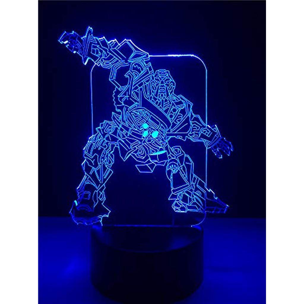 3d Cooler Roboter Illusion Lampe Nachtlicht 7 Farben Touch Schalter Usb Einsatz Led Licht Fernbedienung Nachtli Nachtlicht Led Licht Weihnachtsgeschenke Kinder