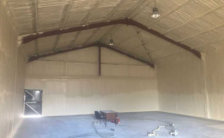 Asbestos Shed Encapsulated With Closed Cell Spray Foam Insulation Spray Foam Spray Foam Insulation Foam