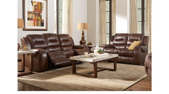 Amazing Living Room Sets Rooms To Go Veneto Brown Leather 6 Pc Creativecarmelina Interior Chair Design Creativecarmelinacom