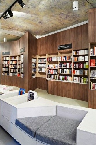 seating cozy sofas bookstore interior elements Shop Pinterest