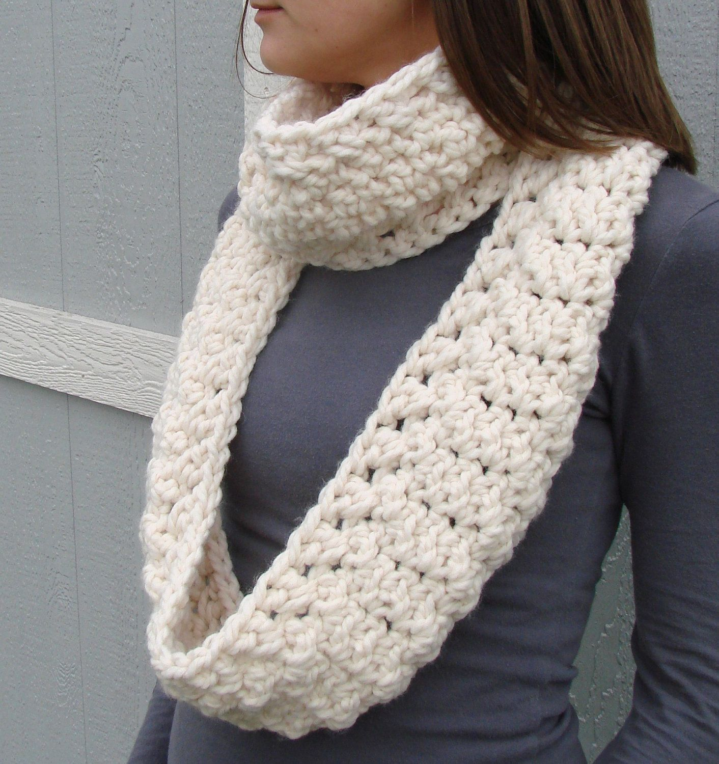 Crochet Grey Scarf Neck Warmer Cowl Scarf From Levintovich | scarves ...