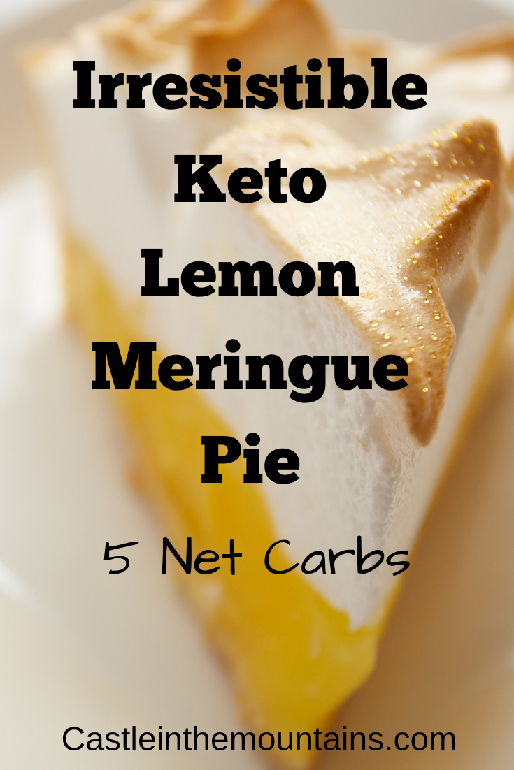 Low Carb Lemon Meringue Pie #ketodessert