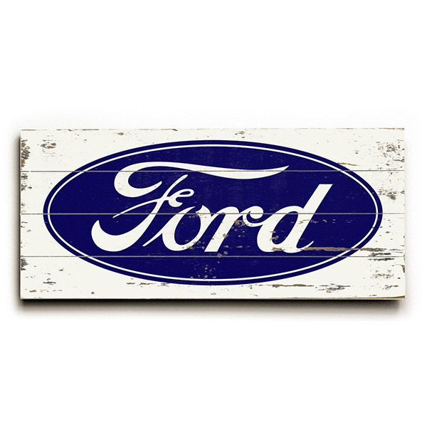Ford Oval Wood Sign Built Ford Tough Ford Logo Ford