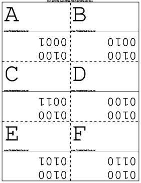 These printable math flash cards cover the upper and lower case