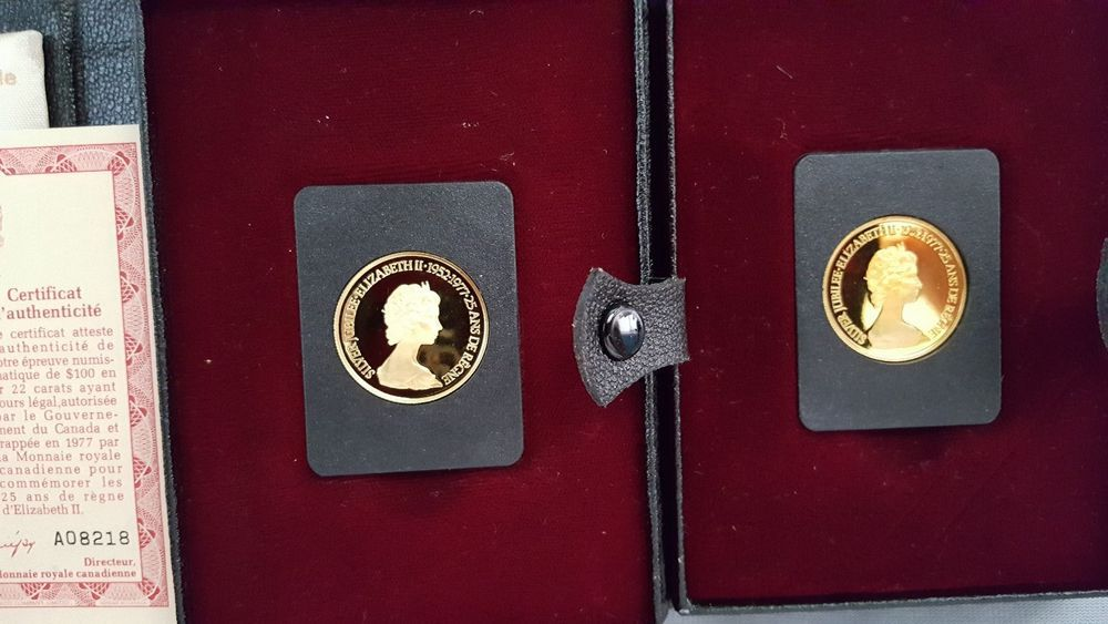 Details about 1977 Canada 22K-22kt Gold $100 Coin - Jubilee