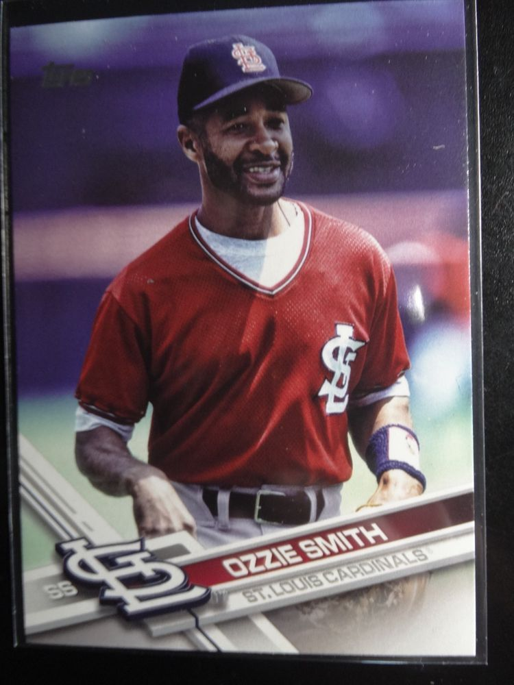 2017 Topps Update Us 47 Ozzie Smith Cardinals Sp Photo