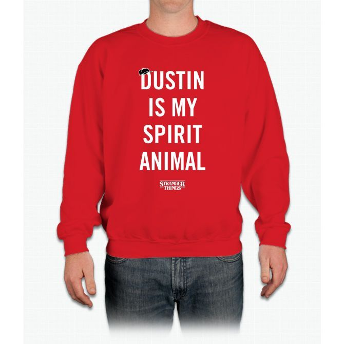 Dustin Is My Spirit Animal Stranger Things Crewneck Sweatshirt