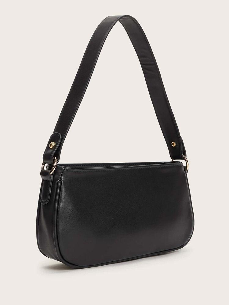 Minimalist Baguette Bag | SHEIN USA | Shoulder bag, Shoulder bag outfit, Bags