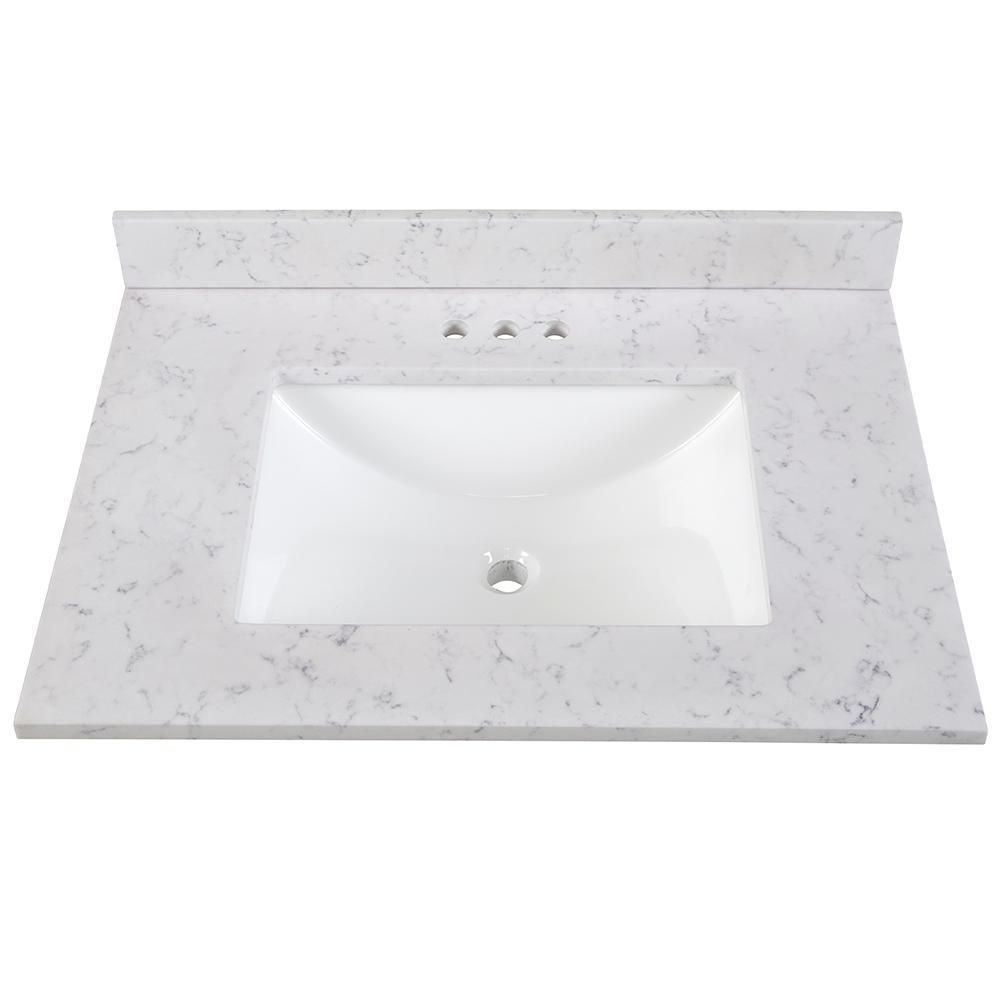 Home Decorators Collection 31 In Stone Effects Vanity Top In