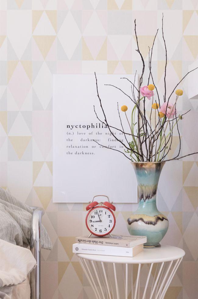 Interior und Inspiration fürs Schlafzimmer mit TApete mit ...
